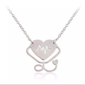 Heart Stethoscope Pendant Necklace